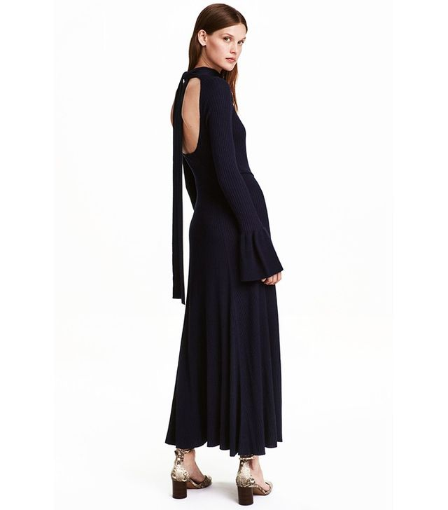 H&M Ribbed Dress With Flounces