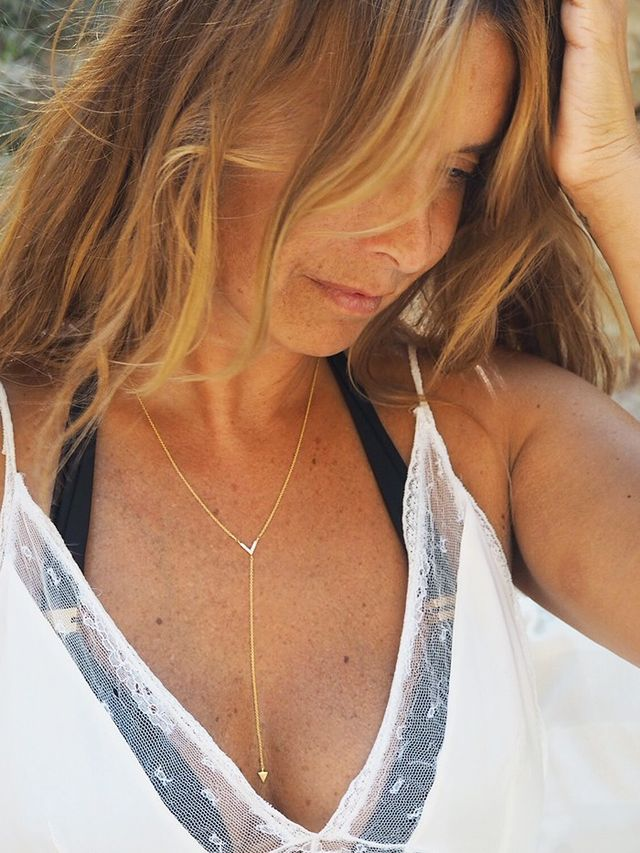 We've been layering our necklaces over our bikinis for a relaxed beach vibe. Also check out our girl crush, blogger Lucy Williams and her Missoma collaboration—it's the dream.