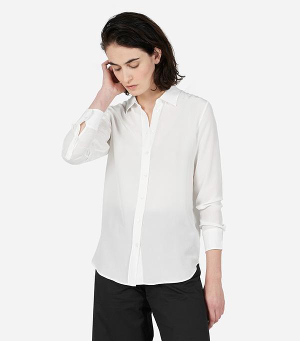 Everlane The Relaxed Silk Shirt