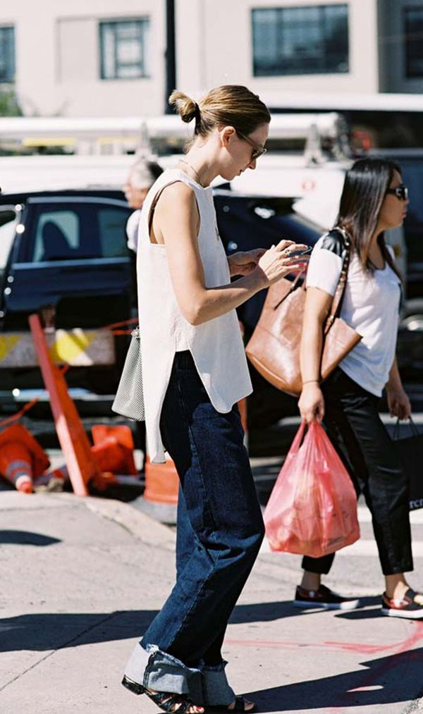 What to Wear Them With: Sleeveless top and low-heel sandals.