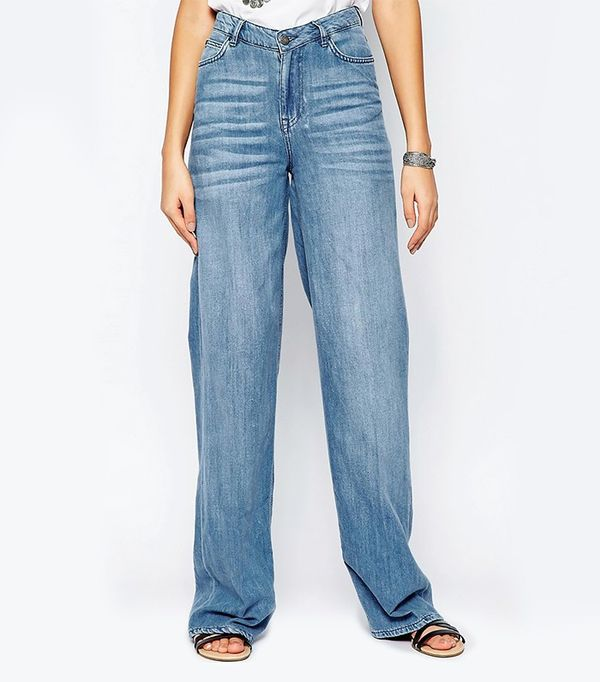 Noisy May Tall Wide Leg Jeans