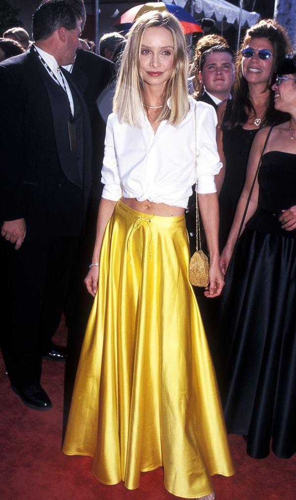 Calista Flockhart Top and Skirt 1999 Emmys