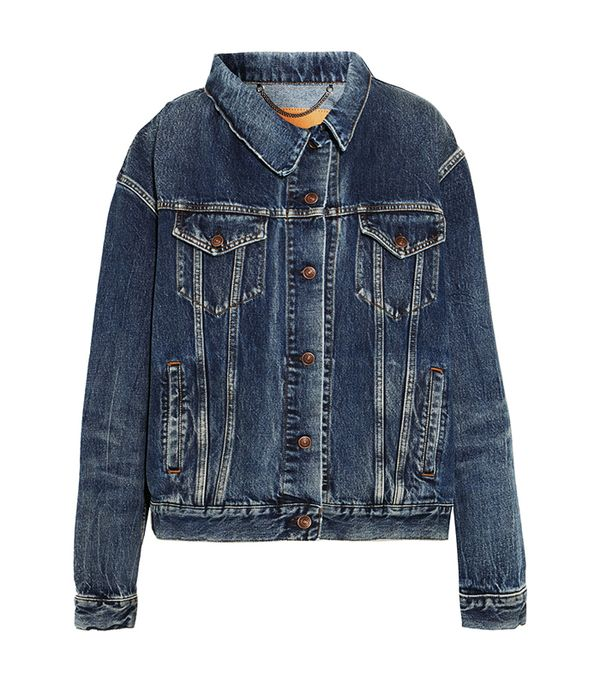 Balenciaga Asymmetric Denim Jacket