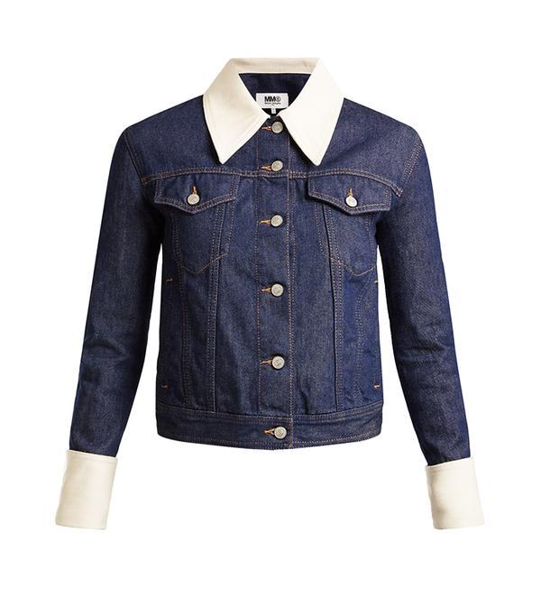 MM6 Maison Margiela Contrast-Trim Denim Jacket