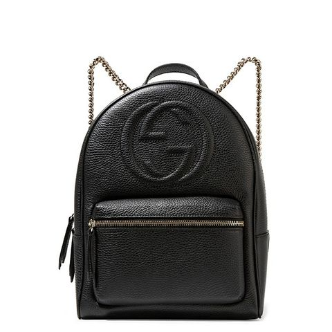Soho Textured-Leather Backpack