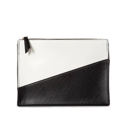Color Block Zip Clutch