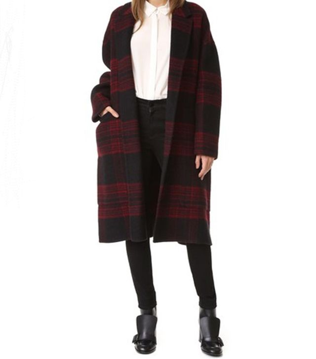Rochas Plaid Coat
