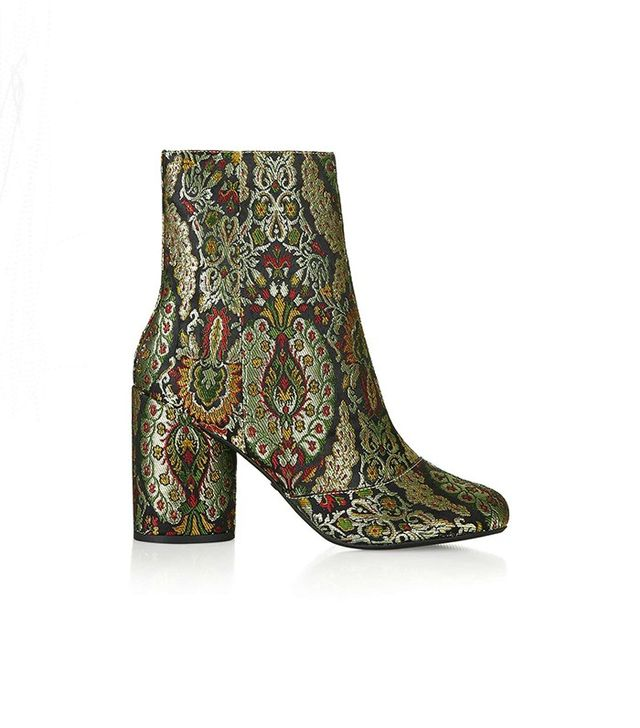 Topshop HARRY Jacquard Ankle Boots