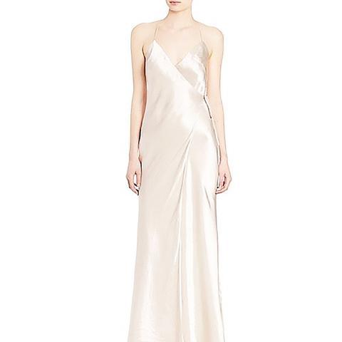 Satin Wrap Gown