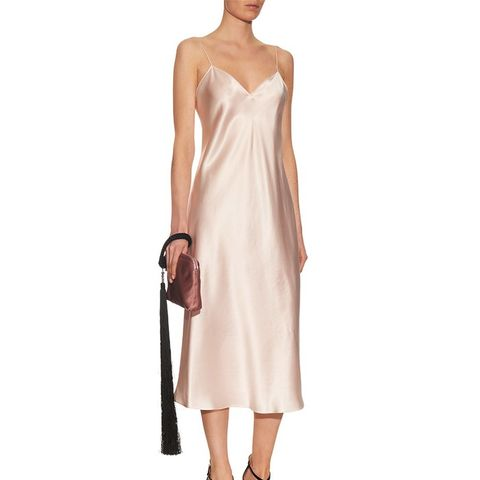 Sleeveless Silk-Satin Gown