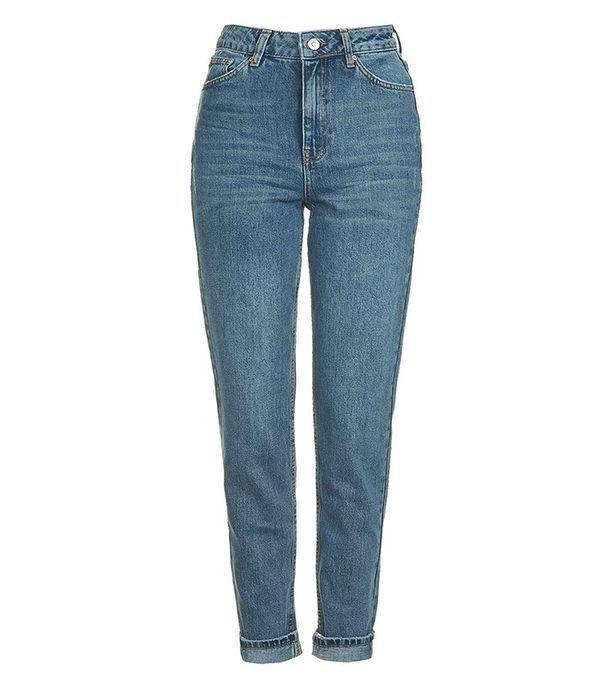 Topshop MOTO Sulphur Indigo Mom Jeans