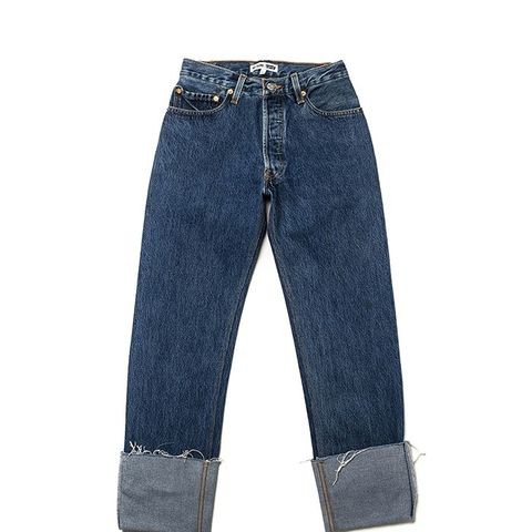 The High Rise Straight Cuff Jeans