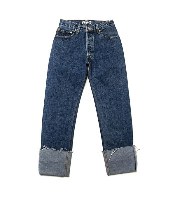 RE/DONE The High Rise Straight Cuff Jeans