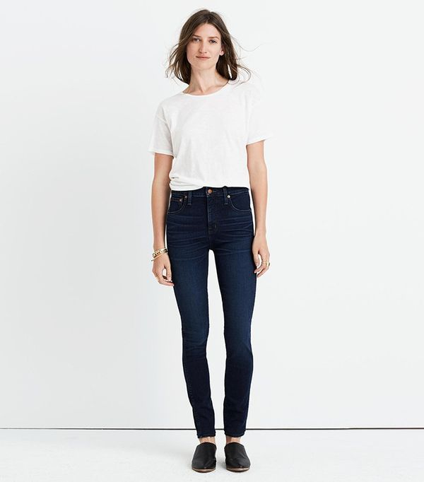 "Madewell 10"" High-Rise Skinny Jeans in Hayes Wash"