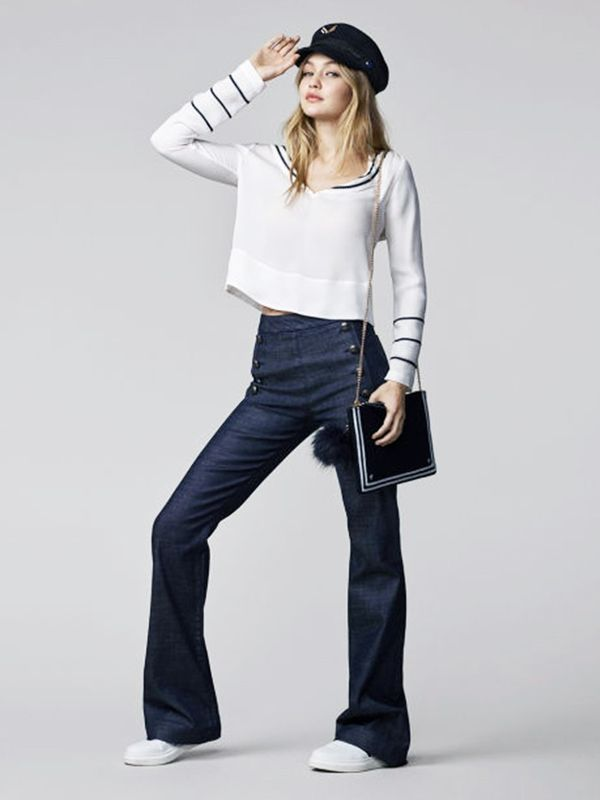 #6: High-waisted bootcut jeans are in.