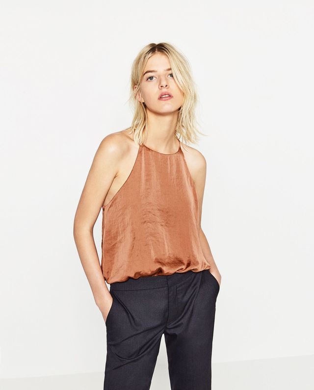 Zara Satin Bodysuit