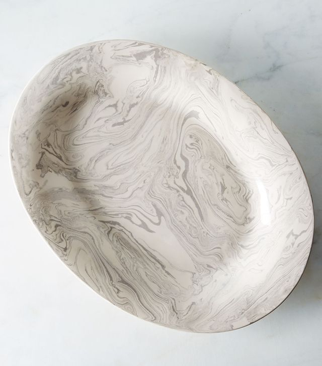 Simple Life Istanbul Ebru Ceramic Platter