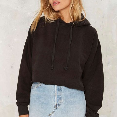 You're a Champ Cropped Hoodie in Black