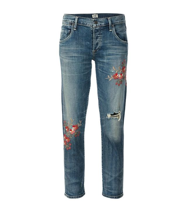 Citizens Of Humanity Madera Blossom Cropped Jeans