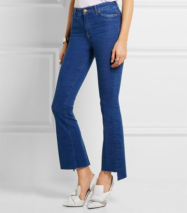 MiH Jeans Marrakesh Cropped High-Rise Bootcut Jeans