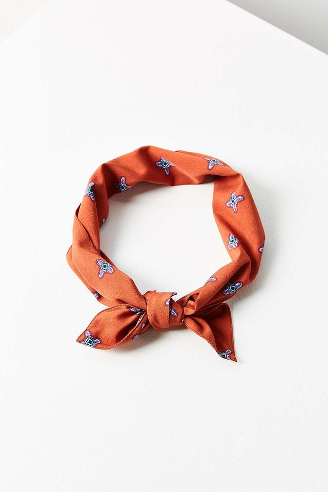 Urban Outfitters Pattern Neck Tie Scarf