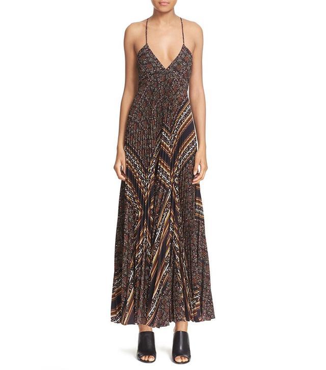 A.L.C. Katie Pleated Midi Dress