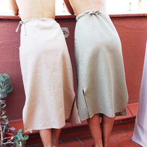 Right Side Wrap Skirt