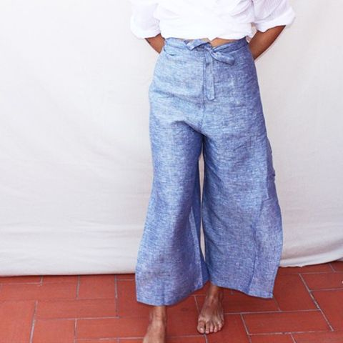 Jeans Wrap Trousers