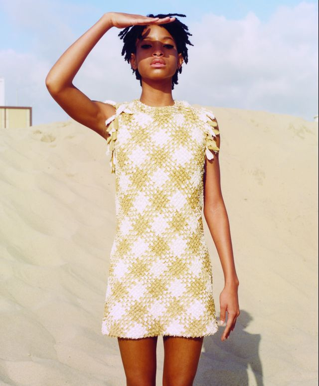 On Willow Smith: Chanel dress.