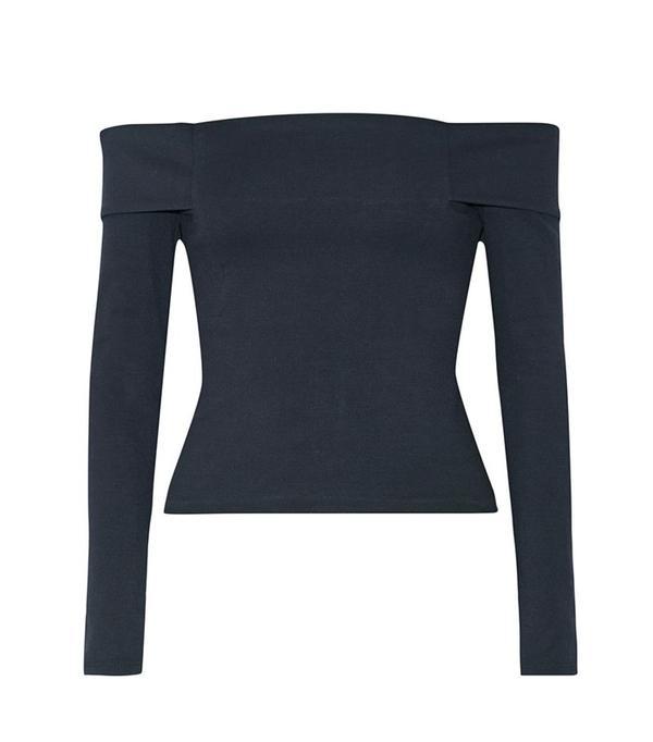 Michelle Mason Off-the-shoulder Stretch-Ponte Top