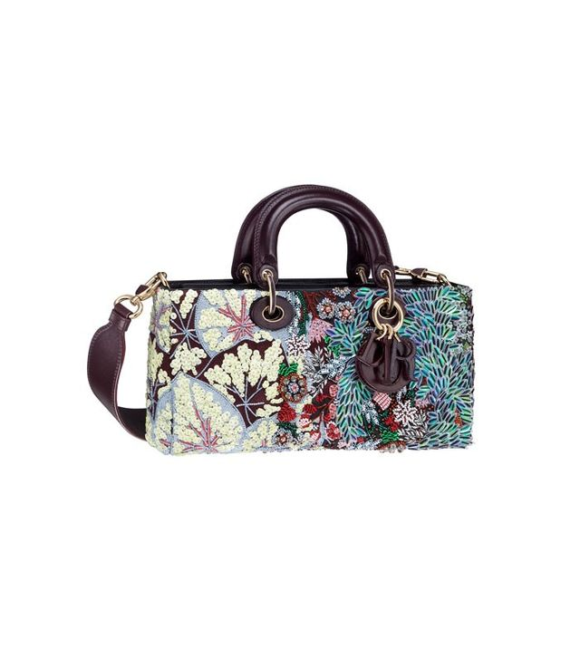 Dior Runway Bag With Embroidered Sequin Flowers