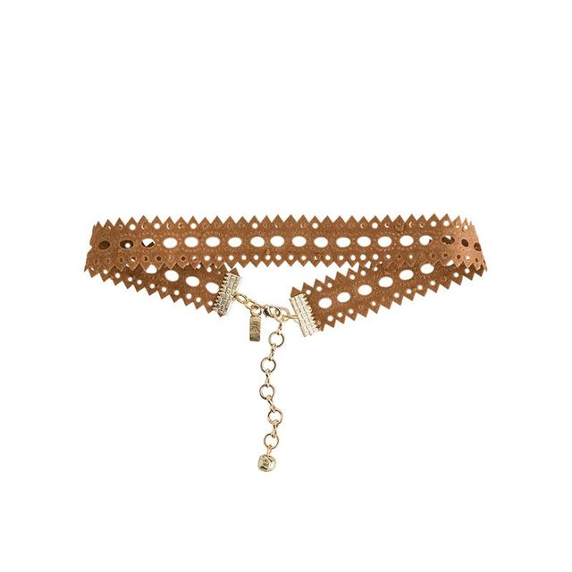 Vanessa Mooney Suede Cutout Choker Necklace