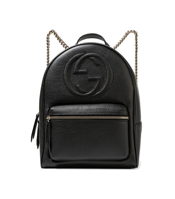 Gucci Soho Textured-Leather Backpack