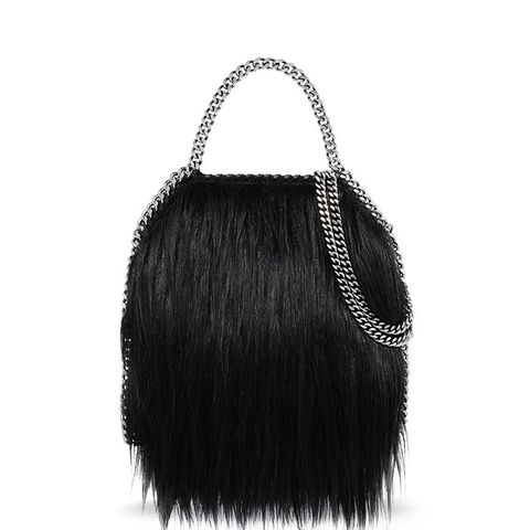 Black Falabella Alter Fur Mini Tote