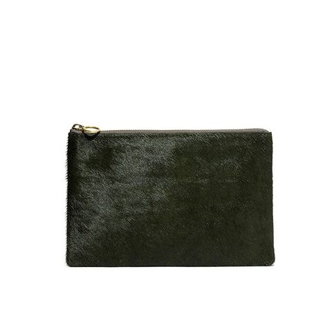 The Pouch Clutch in Calf Hair