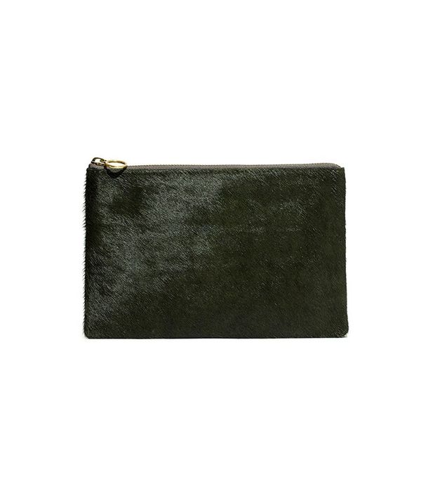 Madewell The Pouch Clutch in Calf Hair