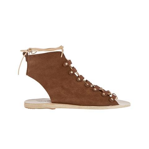 Mache Lace-up Suede Sandals