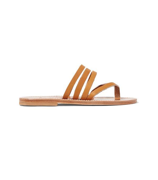 K Jacques St Tropez Sycomore Leather Sandals