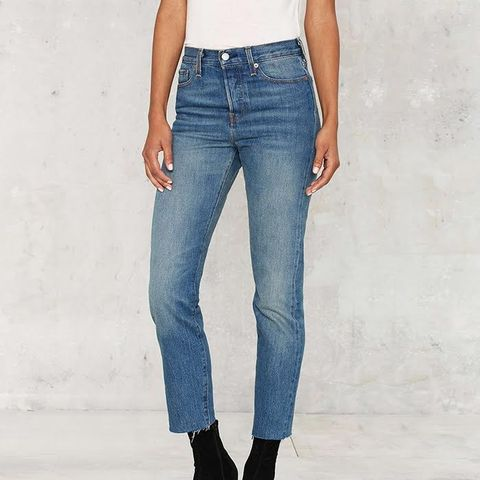 Wedgie Icon Button-Fly Jeans