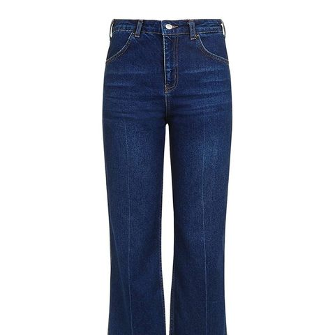 Moto Indigo Cropped Wide Jeans