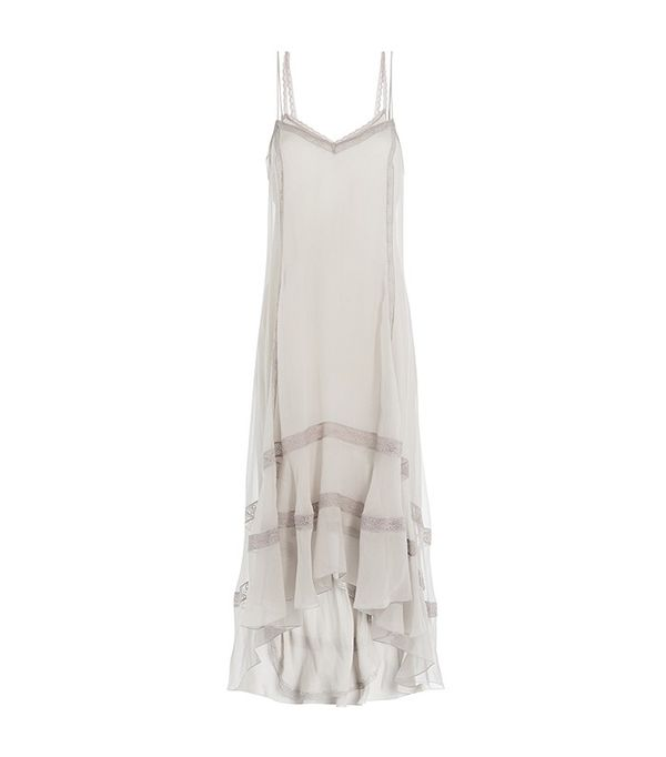 Philosophy di Lorenzo Serafini Silk Slip Dress with Lace