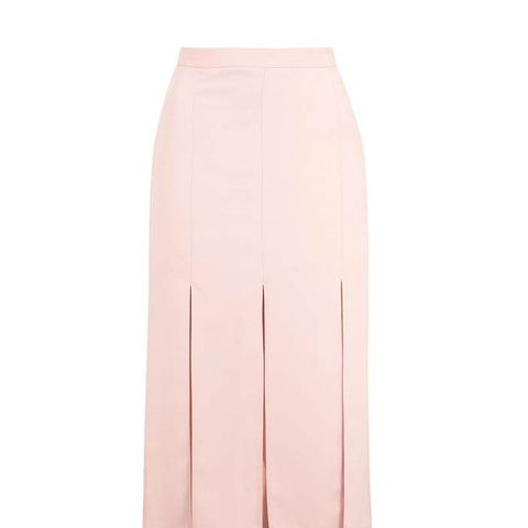 Spliced Panel Midi Skirt