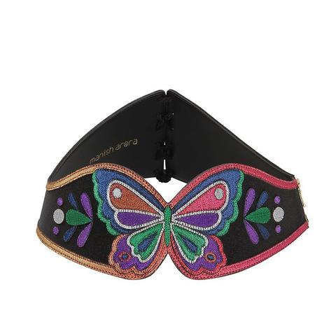 Butterfly Lurex & Leather Corset Belt