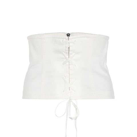 Cotton-Blend Twill Corset