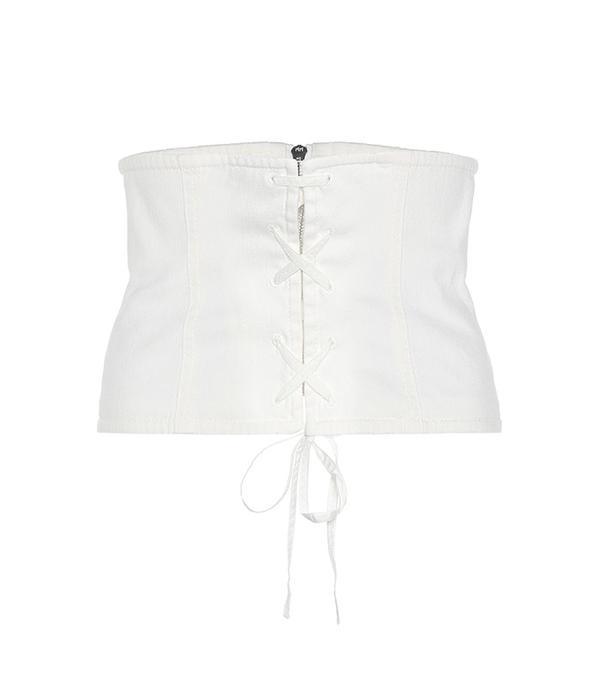 Prada Cotton-Blend Twill Corset