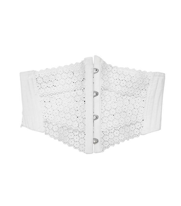 Philosophy Di Lorenzo Serafini Embroidered Cotton Poplin Corset Belt