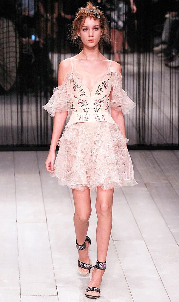 Alexander McQueen's refreshing take on the ballet trend for fall.