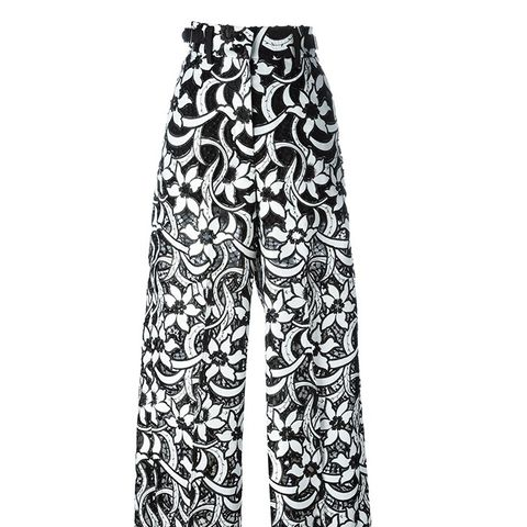 Lace Floral Trousers