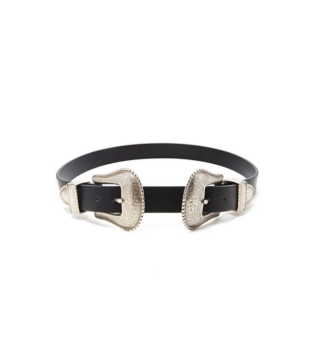 Forever 21 Etched Double-Buckle Belt