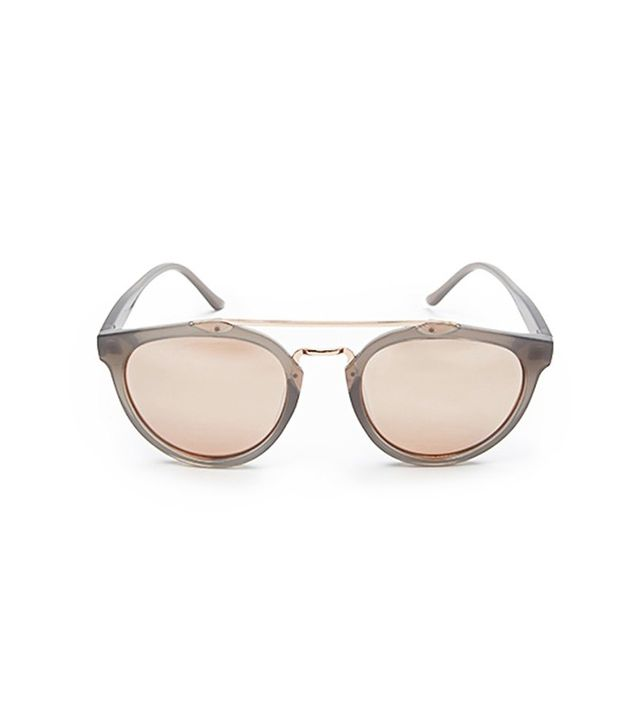 Forever 21 Mirrored Brow-Bar Sunglasses